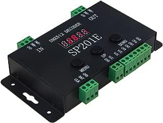 ALITOVE WS2812B WS2811 DMX to SPI Controller Decoder, W/ 99 Color Modes, 5 Channel DMX 512 RGB WW Decoder Controller for SK6812 WS2801 WS2813 LP6803 8806 1903 RGBWW LED Pixels Light Strip DC5V~24V