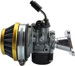 GOOFIT Carburador 19 PZ19 Moto con Filtro Aire 35mm Rendimiento para 2 Tiempos 47cc 49cc Mini Quad Pit Bike Motor Ciclomotor y Scooter Plata