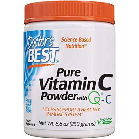 Doctor's Best Vitamin C Powder with Quali-C, Healthy Immune System, Brain, Eyes, Heart and Circulation, Joints, Sourced from Scotland, 250G, 8.8 Ounce (Pack of 1)