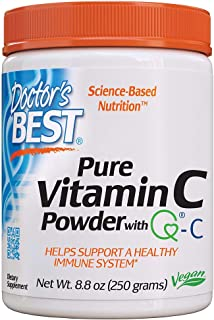 Doctor's Best Vitamin C Powder with Quali-C, Healthy Immune System, Brain, Eyes, Heart and Circulation, Joints, Sourced fr...