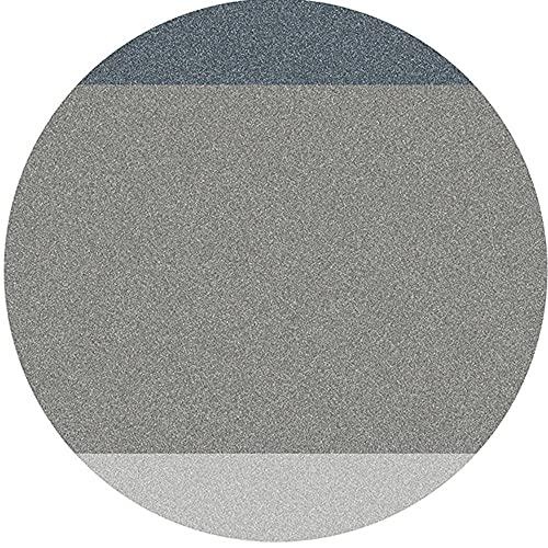 Alfombra redonda gris Estilo simple Dormitorio Alfombra grande 80CM 100CM 120CM 160CM 180CM Sala de estar Sofá Silla de computadora Alfombra de piso lavable resistente a las manchas-El 100 * 100cm