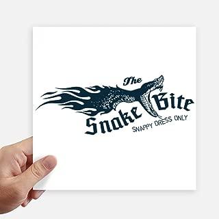 DIYthinker Animal Illustrarion Bite Snake Pattern Square Stickers 20cm Wall Suitcase Laptop Motobike Decal 4pcs