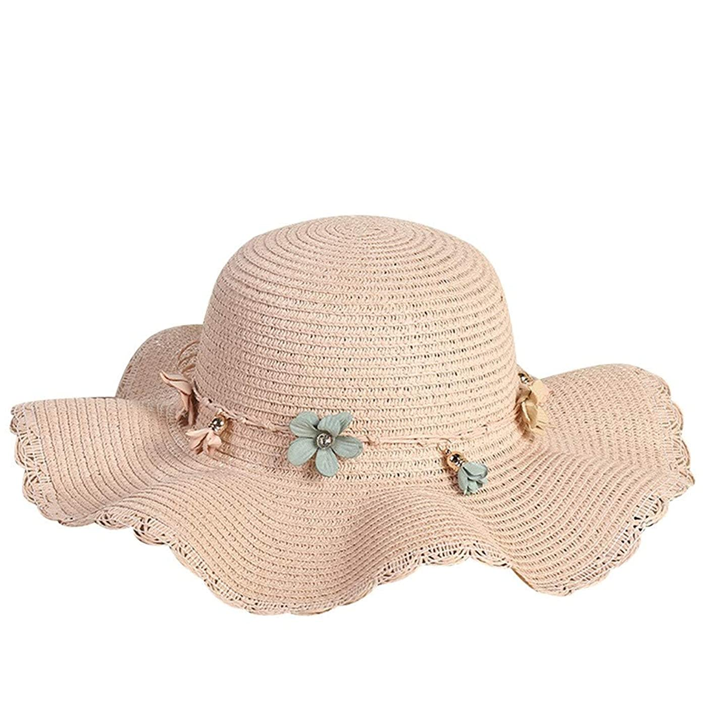 hositor Hats for Women, Women's Fashion Summer Beach Hat Outdoor Outing Sunscreen Straw Hat