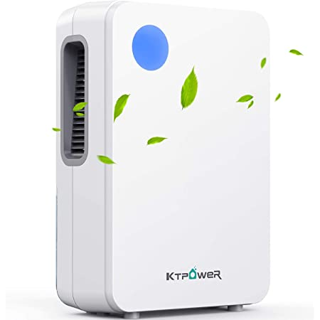 KTPOWER Dehumidifiers for Home 4800 Cubic Feet (500 sq ft), 2000ml (68 oz) Ultra Quiet Dehumidifier and Portable for High Humidity for Large Room or Basements, Bedroom, Bathroom, Kitchen, Auto Shut off