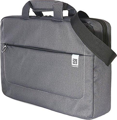 Tucano Loop laptoptas/schoudertas voor 15 inch (38,1 cm), netbook/laptop/ultrabook/MacBook | buitenzak ritssluiting - zwart-grijs