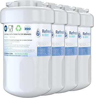 Refresh Replacement for GE Smatwater MWF GWF, MWFP, MWFA and Kenmore 46-9991, 469991, 9991 Refrigerator Water Filter (4-Pack)