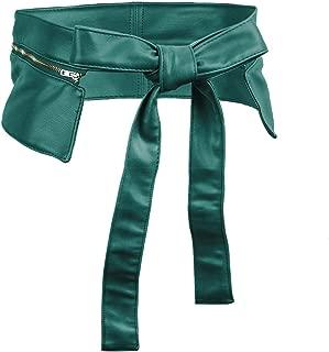 moonsix PU Leather Wide Waist Belt Adjustable for Women, Fashion Casual Chic Dress Belts