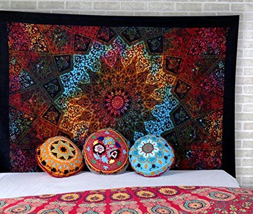 Tapiz Estrella Hippie Wall Hanging - Tapestry Abstracto Boho Bohemio Mantel Cubierta del Sofa Playa de Tiro Sabana Con Dos Camas Tamano Extendido - Multicolor - 213 x 137 cm