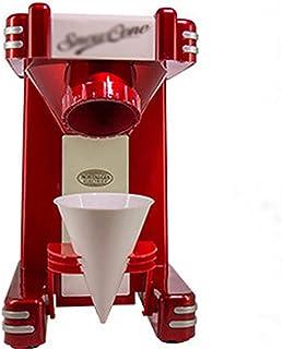 QiHaoHeji Machine à glaçons rasés Machine de Smoothie de Machine à Glace rétro de la Machine à Neige électrique (Couleur :...