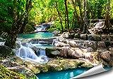 ARTBAY Tropischer Wasserfall im Wald - Poster XXL - 118,8 x