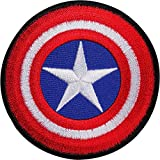 Captain America Shield embroidered Iron/Sew on patch T shirt bag Comic badge