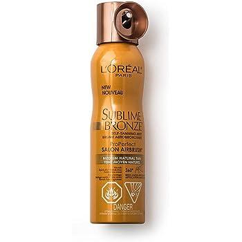 L'Oreal Paris Skincare Sublime Bronze Self Tanning Mist, Medium to Natural Spray tan, 4.6 oz.