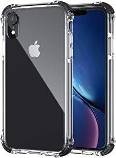 GPFILE Clear iPhone XR Case, iPhone XR Protective Case Cover [4 Reinforced Corners] Shockproof Case with TPU Soft Bumper for iPhone XR (6.1inch) 2018 (Clear-Black)