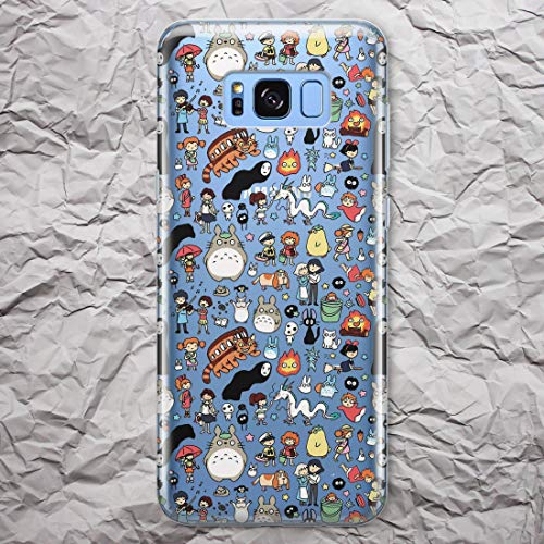 My Neighbor Totoro Phone Case Anime for Samsung Galaxy S9 S8 S20 Ultra Note 10 9 8 S10 Plus 5G S10e S7 S6 Edge Haku Spirited Away Howl's Moving Castle Ponyo Merchandise Cover