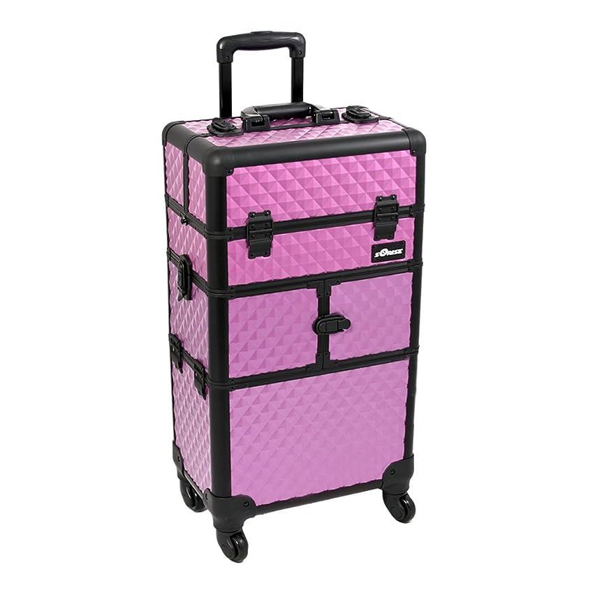 Purple Dmnd Trolley Craft/Quilting Storage Case - I3764