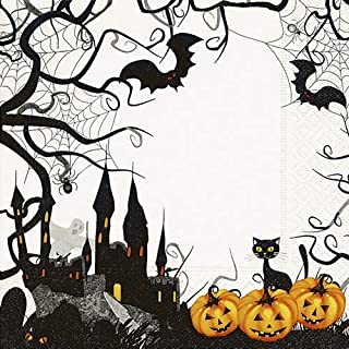 20 servetten grove streek als tafeldecoratie voor Halloween