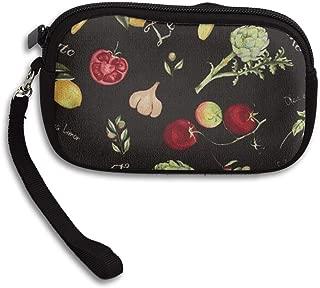 UKZAKOU Lemon, Tomato, Garlic Coin Purse Durable Lightweight Wallet Change Pouch Key Holder Bag Wallets for Women