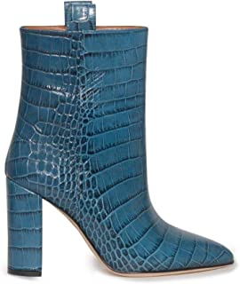 PARIS TEXAS Luxury Fashion Womens PX128CCOCCOBLUEPRINTO Blue Ankle Boots | Season Permanent