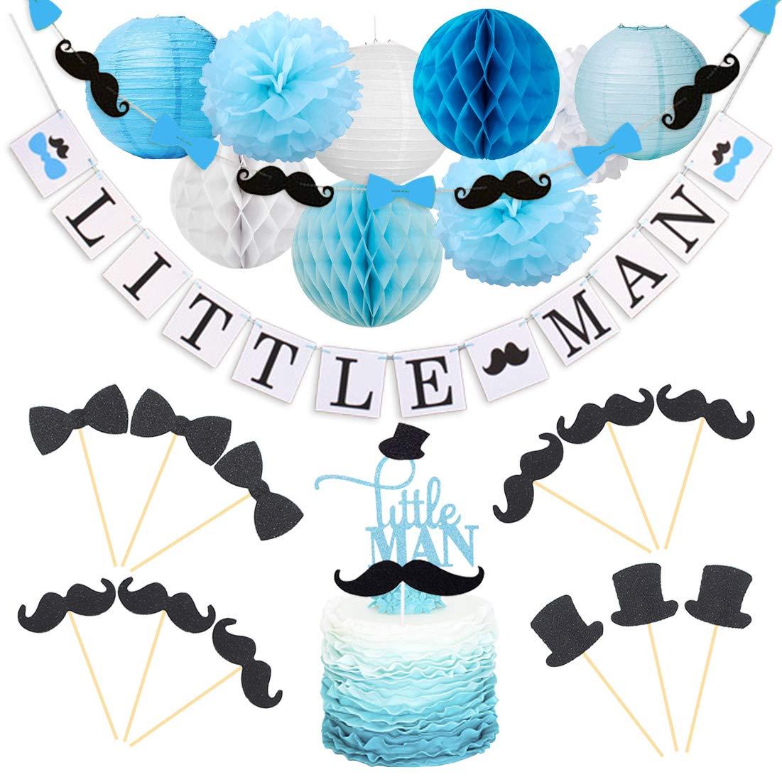 Kreatwow Decorations Mustache Cupcake Birthday