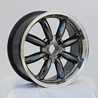 1 PC ONLY ROTA RB WHEELS 17X7.5 PCD: 4x100 OFFSET: 40 HB:56.1 HYPERBLACK WITH POLISH LIP