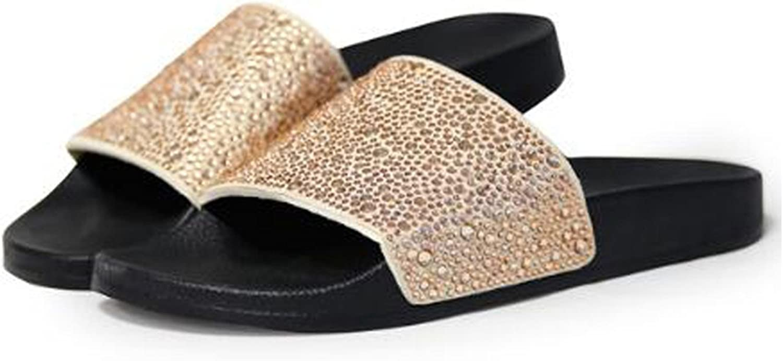 Joddie Haha Sandals 2018 New Women Crystal Beach Slippers Summer shoes Comfortable Flip Flops Flat shoes Black, Sliver Zapatillas CAS