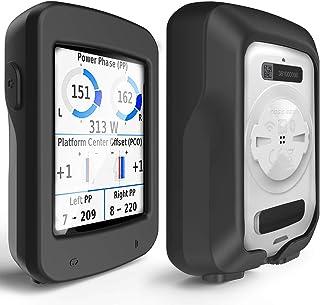 TUSITA Hoesje Compatibel met Garmin Edge Explore 820 - Siliconen Bescherming Hoes Beschermhoes Huid - GPS Fietscomputer Ac...
