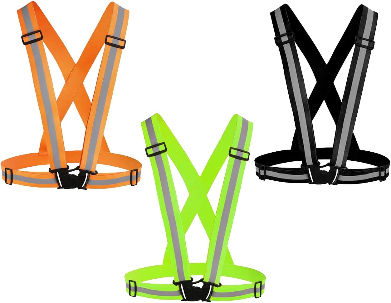 Awnuuw Reflective Vest Running Gear Financial sales sale Safety Ves Adjustable lowest price 3Pack