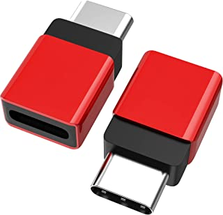 Cellularize USB C Extender Adapter (2 Pack, Red Metal) PD 100W Quick Charge Type C Dock Extension for Lifeproof Otterbox C...