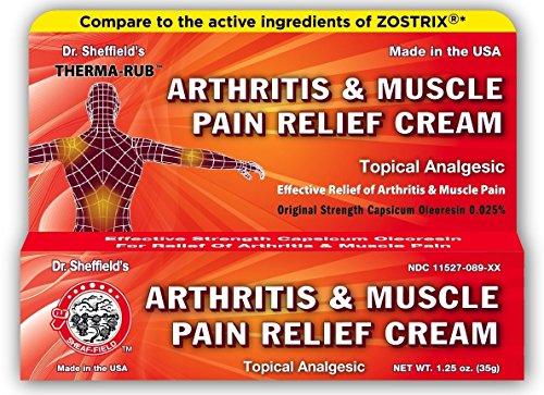 Dr. Sheffield\'s Therma-Rub, crema para el alivio del dolor muscular y del dolor muscular 43 g, analgésico tópico - Alivio de penetración profunda, artritis, distensiones, contusiones y esguinces.
