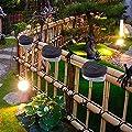 Iannan Solar Fence Lamp Decorative Wall Lamp Courtyard Wall Lamp Floor Lamps