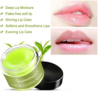 Lip Sleeping Mask, Lip Mask, Overnight Lip Mask, Lip Treatment, Moisturizing Green Tea Matcha Lip Mask, Sleeping Lip Balm, Peeling Lips, Lip Primer, Lip Scrub, Chapped Skin