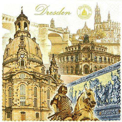 20 Servietten Dresden / Städte / Sachsen / Frauenkirche 33x33cm