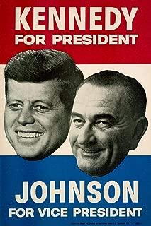 John F Kennedy Lyndon Johnson 1960 Campaign Cubicle Locker Mini Art Poster 8x12