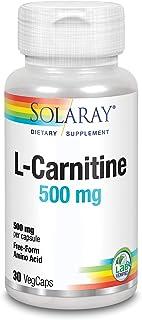 Solaray L-Carnitine 500mg | L-Carnitina | 30 VegCaps