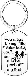 Sister Keychain For Little Sister Gifts Soul Sister Keyring From Sister Birthday Gift Chritmas Gift