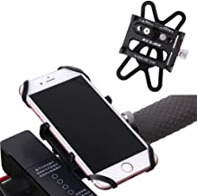 GUB Mountian Bike Phone Mount - Universal Adjustable Bike Mount Cell Phone GPS Mount Holder Rotating Cradle Clamp with Silicone band for Mountain Bike Motorbike,iPhone Samsung (black with Band)
