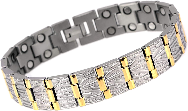 CMS MAGNETICS Novoa Titanium Magnetic Bracelet w  11,800 Gauss Strong Magnet  A8485