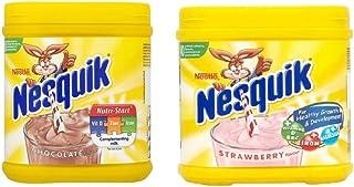 Batido Nesquik 500g x 2 Sabores Chocolate y Fresa