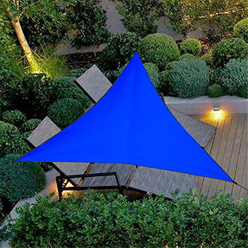 HotYou Impermeable A Prueba de Sol Triángulo Toldo Sombra Vela Aire Libre Sombrilla Sombrilla Jardín Patio Piscina Camping Picnic,Azul,3 * 3 * 3 M