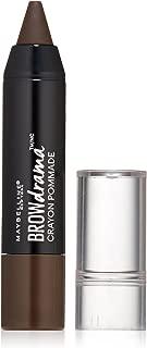 Maybelline New York Brow Drama Pomade Crayon, Deep Brown, 0.04 oz.