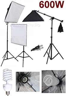 Ardinbir Studio Photo 900w Continuous Light Softbox Boom Lighting Kit and Background Backdrop Support System