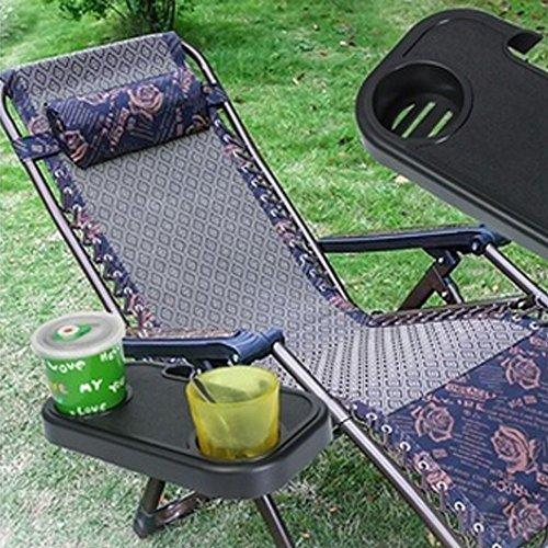 Topgrowth - Portavasos portátil para camping, plegable, para picnic al aire libre, playa, silla de jardín, bandeja lateral para bebidas