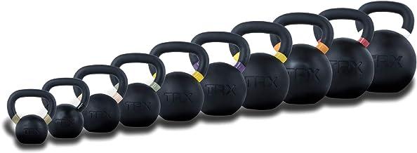 TRX Training Rubber-Coated Kettlebells, Ultra-Durable Heavy-Duty Bells, Wear-Resistant Fitness Weight Set (4–20 Kilograms)