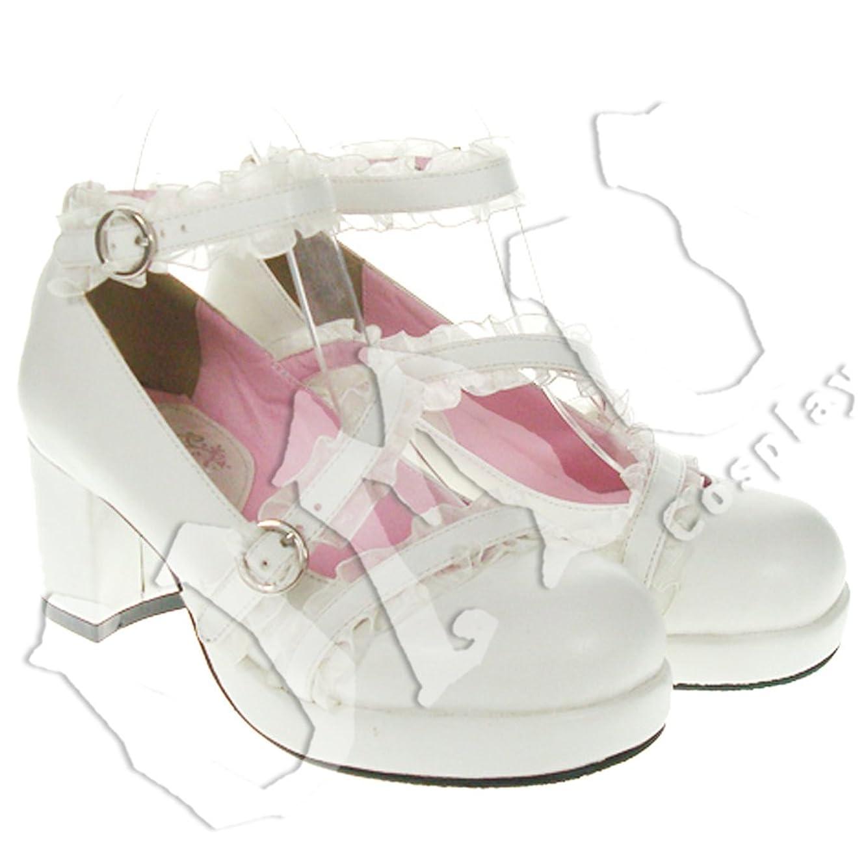 みなさん非行整理する【UMU】 足24cm LOLITA ロリータ レース 純白 スウィート 風 靴 オーダーメイド(ヒール高、材質、靴色は変更可能!)