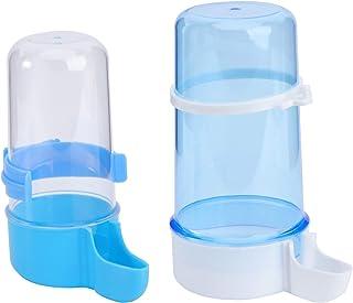 POPETPOP 2 Piezas Dispensador de Agua para Pájaros Alimentador Automático de Jaula de Agua Potable 200 Ml Y 415 Ml Botella...