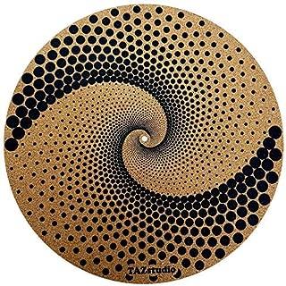 Taz Studio: Turntable Slipmat - Specially designed Cork. psychedelic geometric Mandela Lines.
