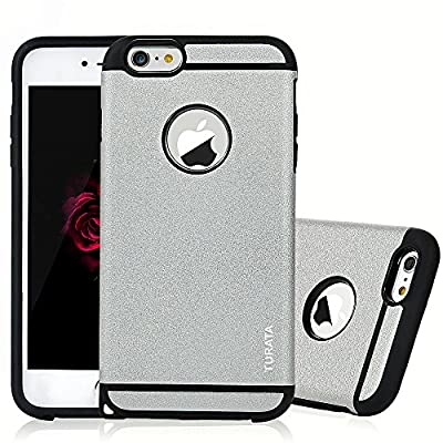 iPhone 6 Case - TURATA [Heavy Duty] Dual Layer Air Cushion Hard Plastic TPU Protective Case Bumper with Dust Plug Design for iPhone 6 (4.7 inch)