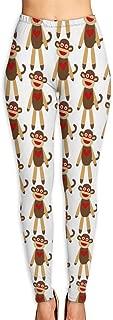 Cute Sock Monkey Women's Yoga Pants/Yoga Clothes Workout Leggings Printed Tight Pants
