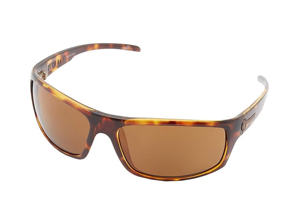 Electric Eyewear Tech One Polarized (Tortoise Shell/OHM Bronze Polar) Plastic Frame Sport Sunglasses