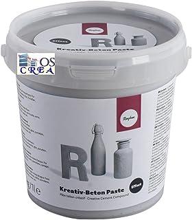 Rayher Creativ-Beton Paste, Cubo 1,4 kg, Varios, Gris, 1.33
